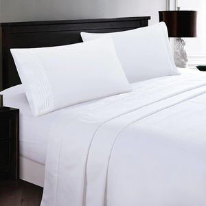 ⭐️SALE⭐️Full 4pc White Bedsheets